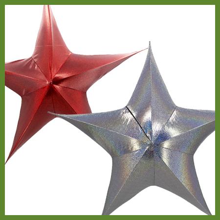 Étoiles en tissu